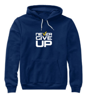 Never Give Up, Women's Hoodies