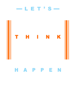 Lets Think Big, Men's Round T-shirt