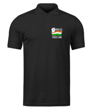 Haq se Indian, Men's Polo Neck T-shirt