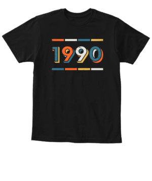 1990, Kid's Unisex Round Neck T-shirt