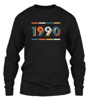1990, Men's Long Sleeves T-shirt