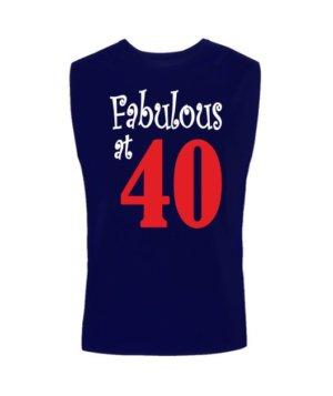 Fabulous at 40, Men's Sleeveless T-shirt