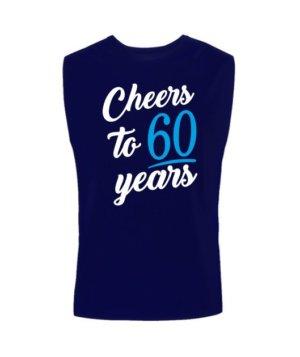 Cheers to 60 years, Men's Sleeveless T-shirt