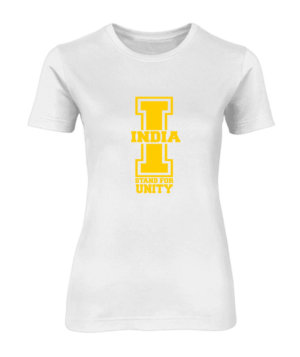 India Stand For Unity, Women's Round Neck T-shirts