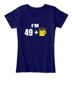 Im 49+, Women's Round Neck T-shirt