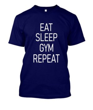 Eat Sleep Gym Repeat, Women's Round Neck T-shirt