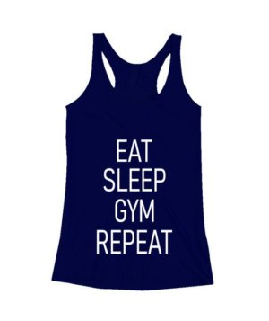 Eat Sleep Gym Repeat, Men's Sleeveless T-shirt