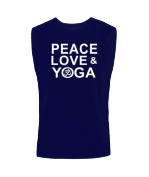 Peace Love and Yoga, Men's Sleeveless T-shirt