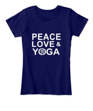 Peace Love and Yoga, Women's Round Neck T-shirt