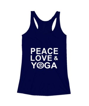 Peace Love and Yoga, Women's Tank Top