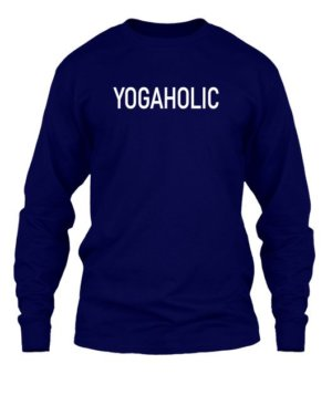 YOGAHOLIC, Men's Long Sleeves T-shirt