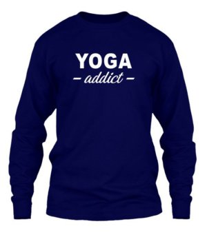 YOGA addict, Men's Long Sleeves T-shirt