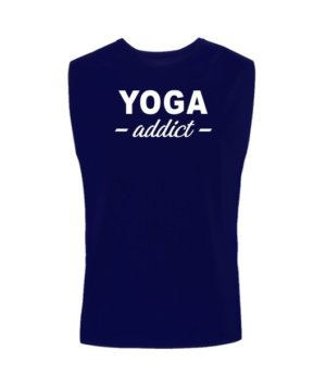 YOGA addict, Men's Sleeveless T-shirt