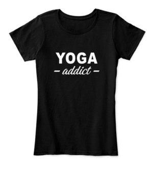 YOGA addict, Women's Round Neck T-shirt