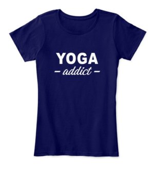 YOGA addict, Women's Round Neck T-shirt