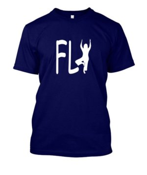 Fly yoga, Men's Round T-shirt