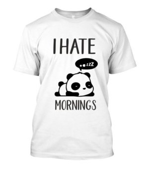 I hate mornings-Panda Tshirt, Men's Round T-shirt