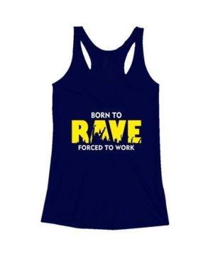 BORN TO RAVE, Women's Tank Top