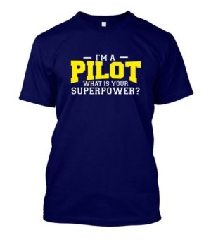I am a Pilot, Men's Round T-shirt