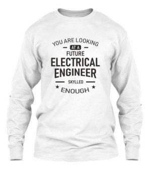 Future Electrical Engineer, Men's Long Sleeves T-shirt