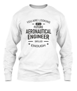 Future Aeronautical Engineer, Men's Long Sleeves T-shirt