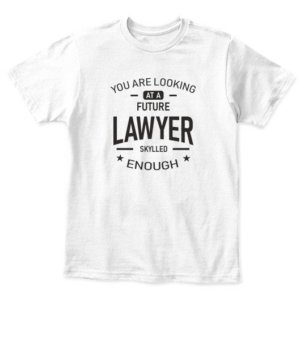 Future Lawyer, Kid's Unisex Round Neck T-shirt
