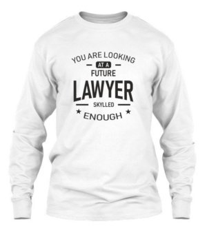 Future Lawyer, Men's Long Sleeves T-shirt