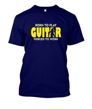 BORN TO PLAY GUITAR, Men's Round T-shirt
