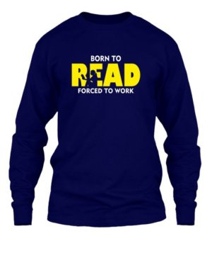 BORN TO READ, Men's Long Sleeves T-shirt