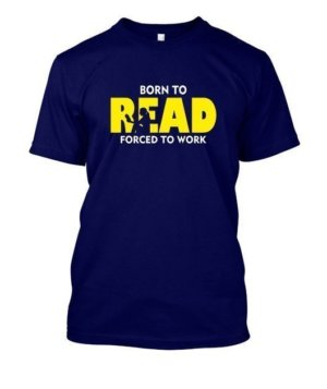 BORN TO READ, Men's Round T-shirt