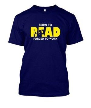 BORN TO READ, Women's Round Neck T-shirt