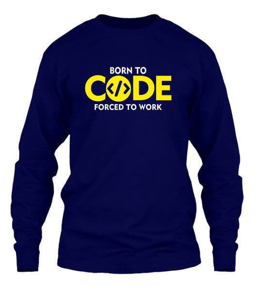 BORN TO CODE, Men's Long Sleeves T-shirt