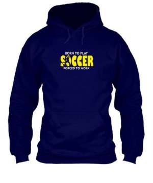 BORN TO PLAY SOCCER, Men's Hoodies