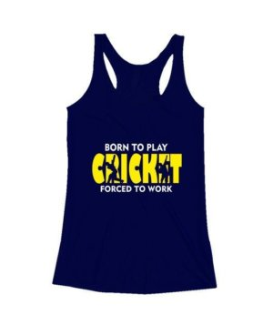BORN TO PLAY CRICKET, Women's Tank Top