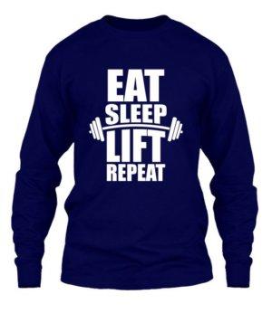 Eat Sleep Lift Repeat, Men's Long Sleeves T-shirt