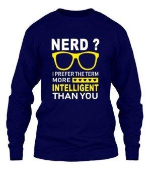 Nerd, Men's Long Sleeves T-shirt