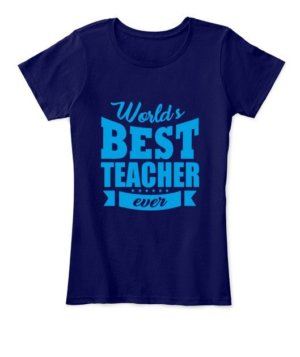 World's best teacher, Women's Round Neck T-shirt