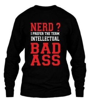 Intellectual Badass, Men's Long Sleeves T-shirt